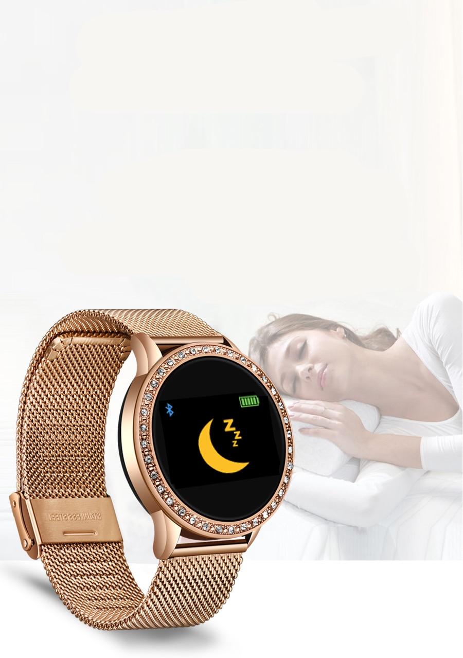 Women's Elegant Smart Watch Decorated with Stones