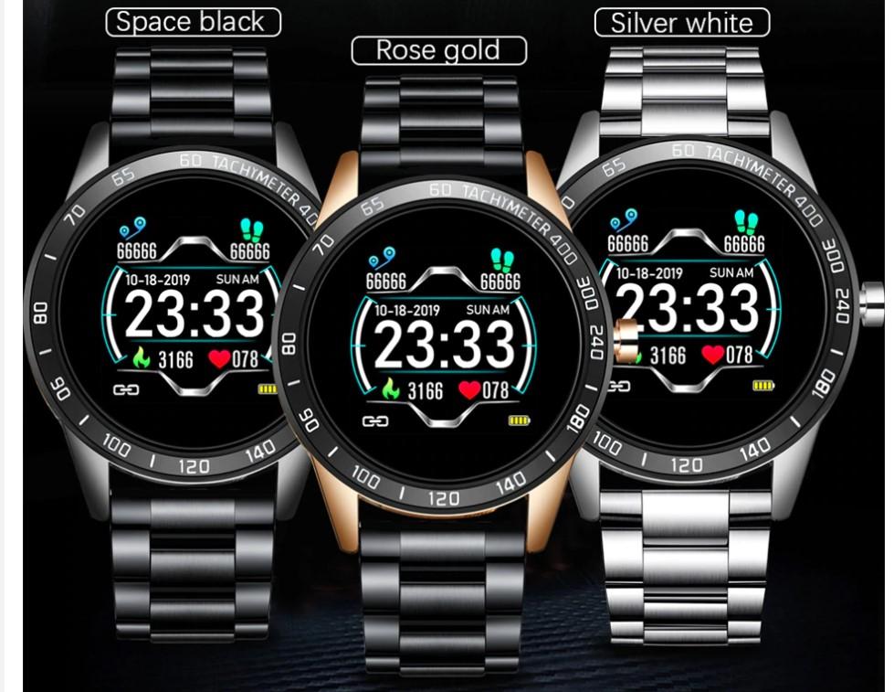 Men's Stainless Steel Smart Watch